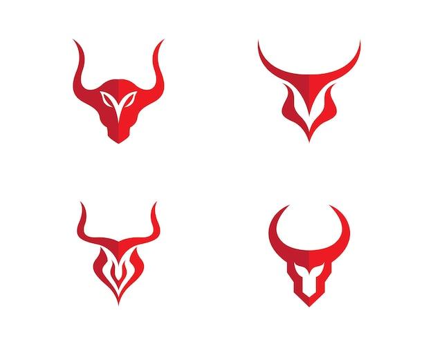Red bull taurus logo szablon wektor ikona ilustracja