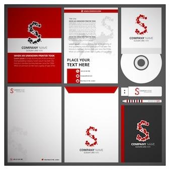 Red corporate branding
