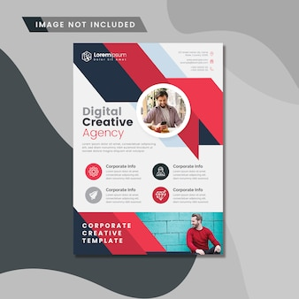 Red creative digital flyer layout