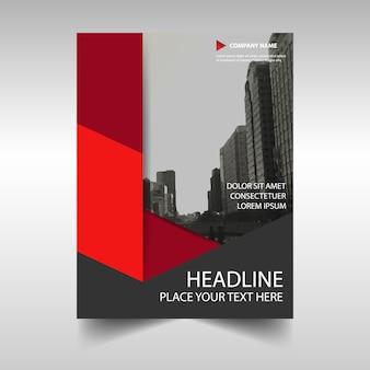 Red creative raport roczny szablon okładki książki