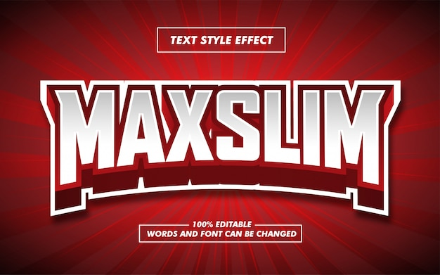 Red e sport pogrubiony efekt stylu tekstu