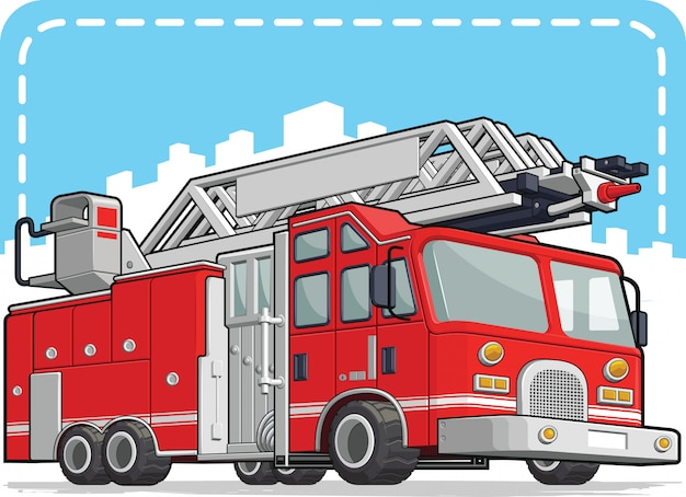 Red fire truck lub fire engine