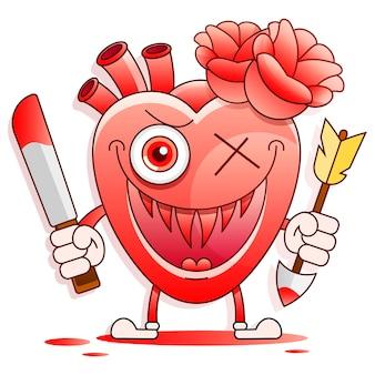 Red heart melt drop fall in love concept stockowa ilustracja na tle. do projektowania, dekoracji, logo.