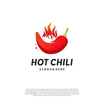 Red hot chili logo projektuje wektor koncepcyjny, szablon projektu logo spicy pepper