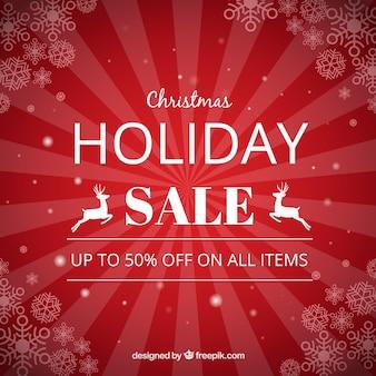 Red rocznika tle christmas sprzedaży