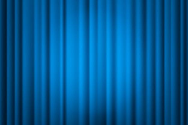 Reflektor na scenie kurtyny.