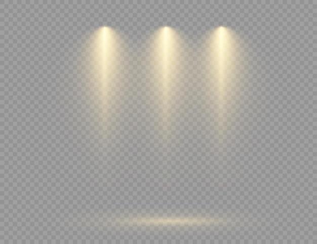 Reflektor świeci efekt światła błyskowego