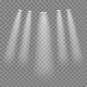 Reflektor wektor. efekt świetlny. blask na białym tle biały przezroczysty efekt świetlny. projekt elementu streszczenie efekt specjalny.