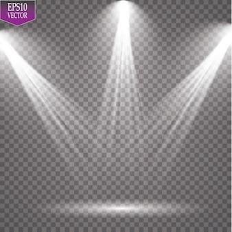 Reflektor wektorowy. lekki efekt magiczny eps 10