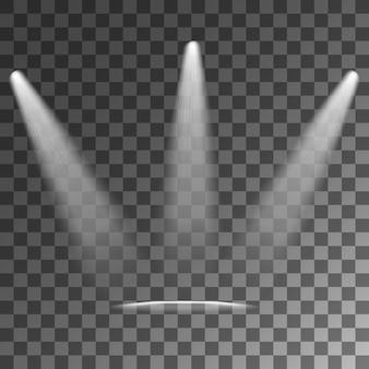 Reflektory efekty świetlne przezroczyste tło