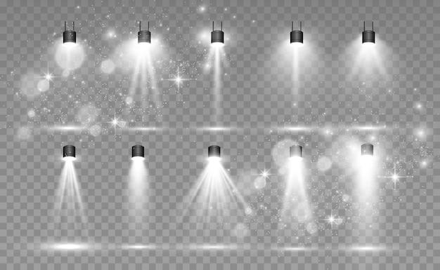 Reflektory na przezroczystym