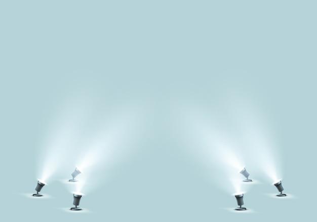 Reflektory podłogowe do studia lub sceny