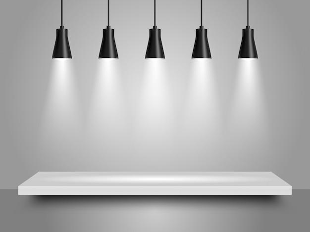 Reflektory realistyczne ilustracji wektorowych