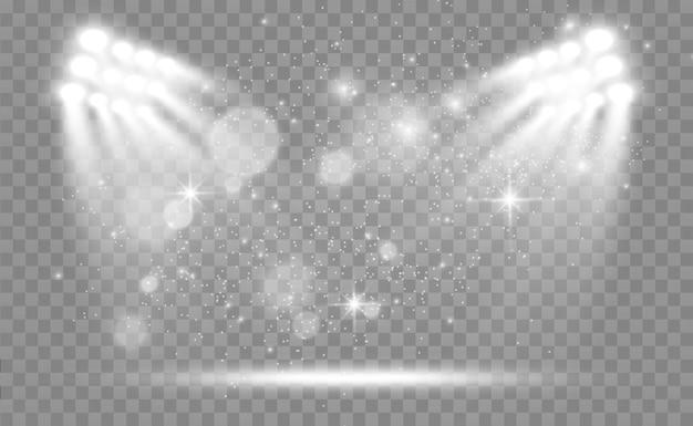 Reflektory stadionowe na przezroczystym