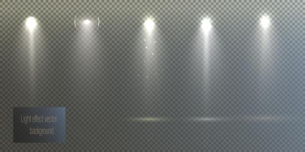 Reflektory ustawione na białym tle o