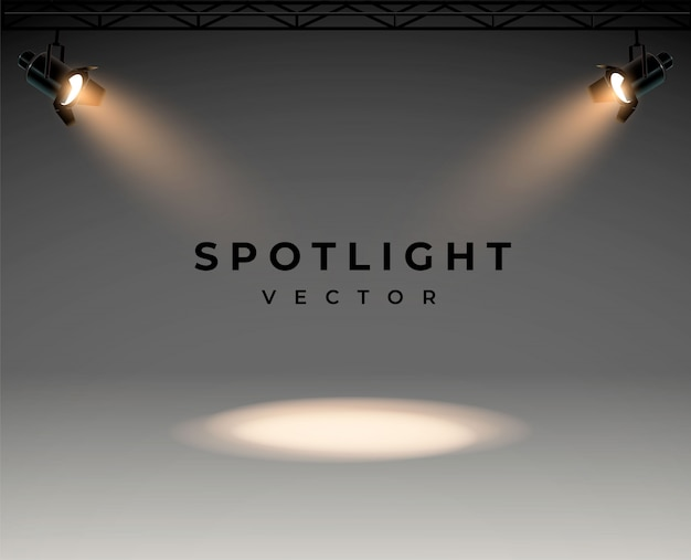 Reflektory z jasną sceną świecącą w kolorze białym podświetlany efekt projektora, projektora do oświetlenia studyjnego