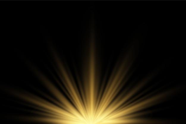 Reflektory żółte na ciemnym przezroczystym tle