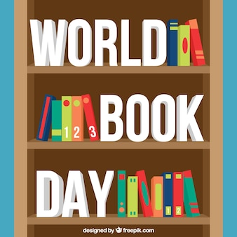 Regał tło dla świata dzień książki