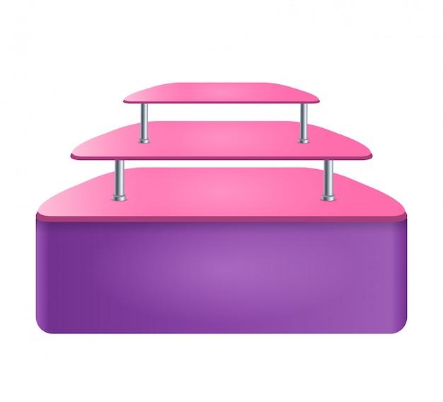 Regały z półkami do wyświetlania przedmiotów