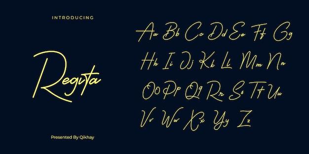 Regita signature font