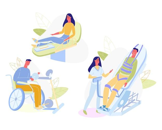 Rehabilitacja osób z fizjoterapeutą.