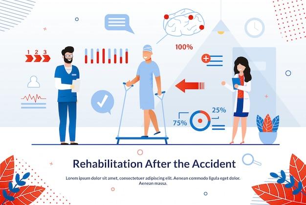 Rehabilitacja po chorobie po wypadku.