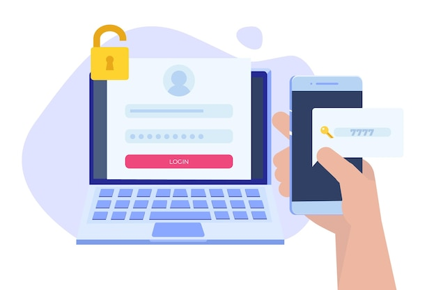 Rejestracja online i zarejestruj się, koncepcja uwierzytelniania konta. ilustracja wektorowa interfejsu użytkownika.