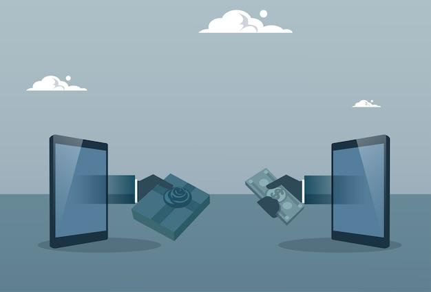 Ręka biznes człowiek coraz pieniądze od tabletu cyfrowy