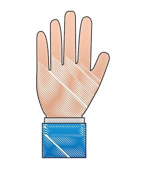 Ręka człowieka przystanek ikona wektor ilustracja projektu