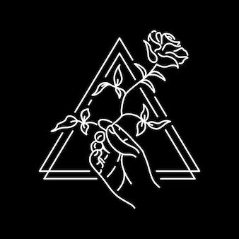 Ręka i róża