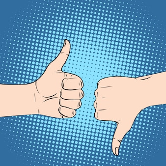Ręka jak pop-art w stylu retro