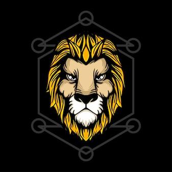 Ręka króla lwa ilustracja