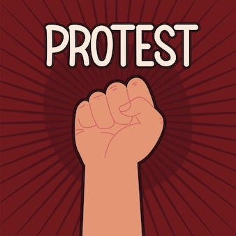 Ręka pięści protestu
