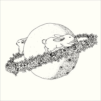 Ręka rysująca ilustracja doodle abstrakta grafik komputerowa projekta fantazi kolekcja.