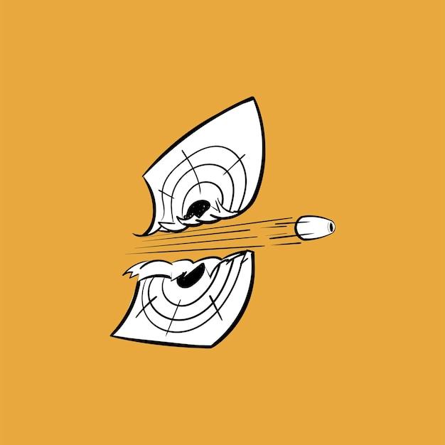 Ręka rysunkowa ilustracja celu celu pojęcie