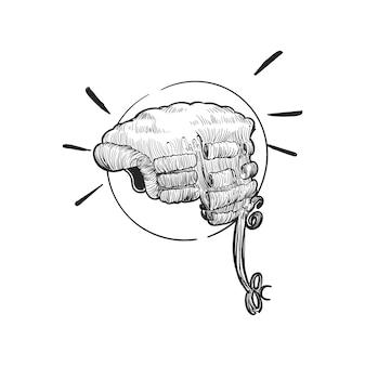 Ręka rysunkowa ilustracja sprawiedliwości conecept