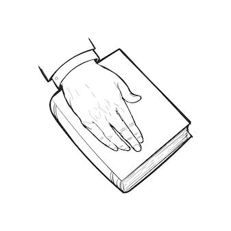 Ręka rysunkowa ilustracja sprawiedliwości pojęcie