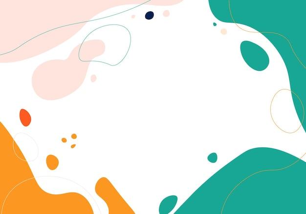 Ręka streszczenie rysować minimalne tło. ilustracja wektorowa.