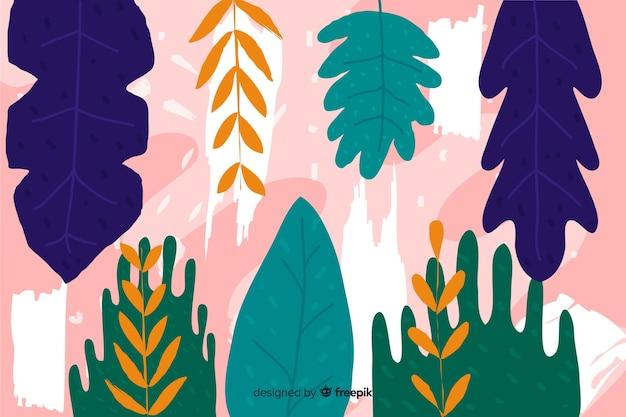 Ręka streszczenie tropikalny tło