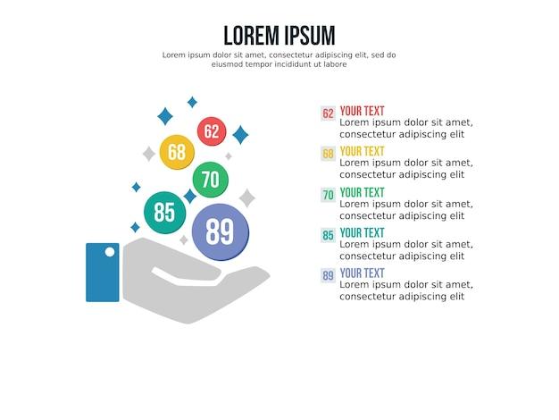 Ręka tło prezentacji infografikę i statystyki slajdów szablonu
