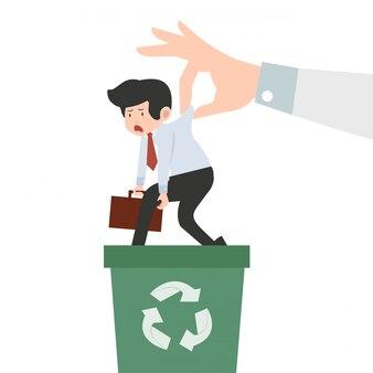 Ręka trzyma biznesmen recyklingu