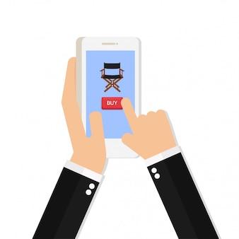 Ręka trzyma inteligentny telefon