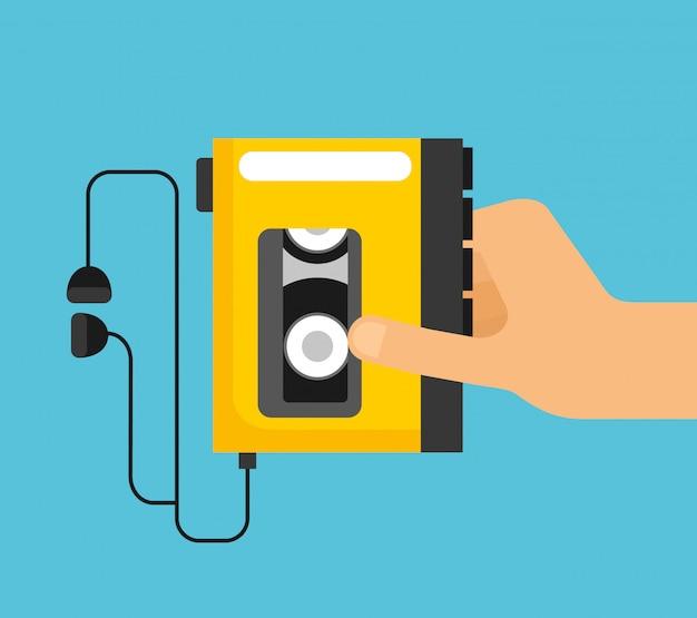 Ręka trzyma kasetę