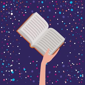 Ręka trzyma książkę