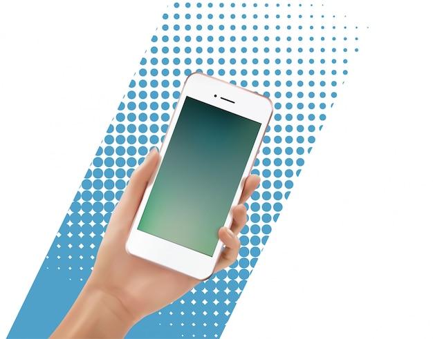 Ręka trzyma smartphone