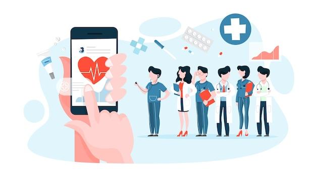 Ręka trzyma urządzenie cyfrowe i sprawdza stan zdrowia