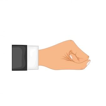 Ręka w pozie. ręka mężczyzny lub kobiety w stylu cartoon