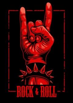 Ręka w rock n roll znak