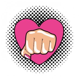 Ręka w znak pop artu