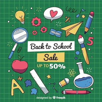 Ręka wracająca do sprzedaży szkolnej